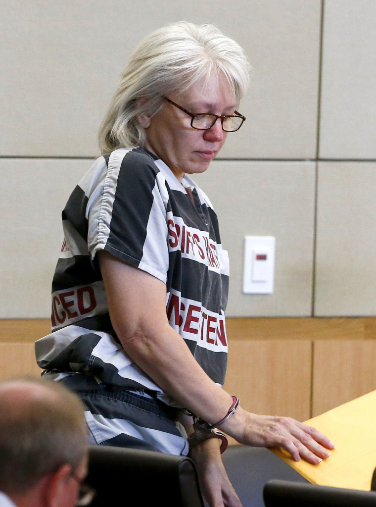 Debra Jean Milke arrives for a hearing at Maricopa County Superior Court in Phoenix in this Aug. 1, 2013, photo. The Associated Press