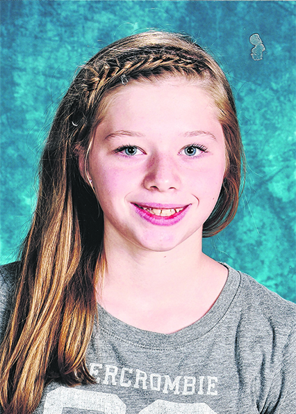 Franklin County champion: Emily Wilson, grade 8, Spruce Mountain Middle School, Jay
