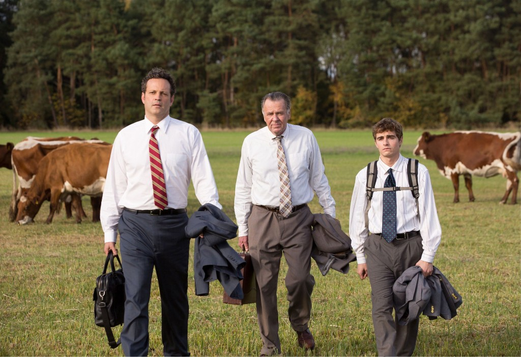 Vince Vaughn, left, Tom Wilkinson and Dave Franco in a scene from