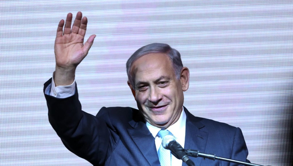 Israeli Prime Minister Benjamin Netanyahu greets supporters at the Likud Party's election headquarters In Tel Aviv. Wednesday. Exit polls Tuesday showed the Likud and Isaac Herzog's center-left Zionist Union  deadlocked but once the actual results came pouring in early Wednesday, Likud soared forward to claim 30 seats in Parliament. The Zionist Union wound up with just 24 seats. The Associated Press