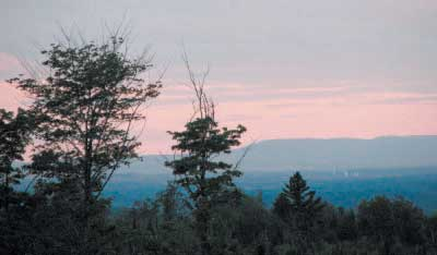 The view from Johnson Mountain in Bingham, where a wind turbine project won preliminary approval from the Department of Environmental Protection on Wednesday. File Photo