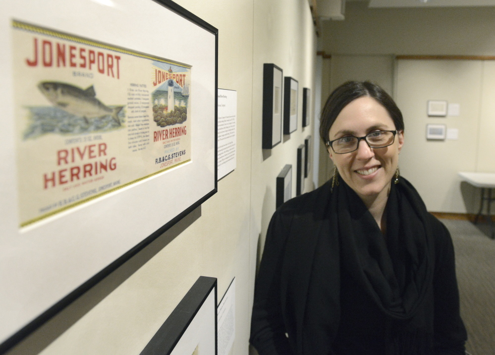 """Jamie Kingman Rice, director of library services at the Maine Historical Society, and curator of """"Sugar and Spice."""""""