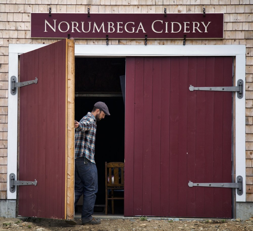 Noah Fralich, owner of Norumbega Cidery in New Gloucester, received legal help from the Conservation Law Foundation in trademarking his product.