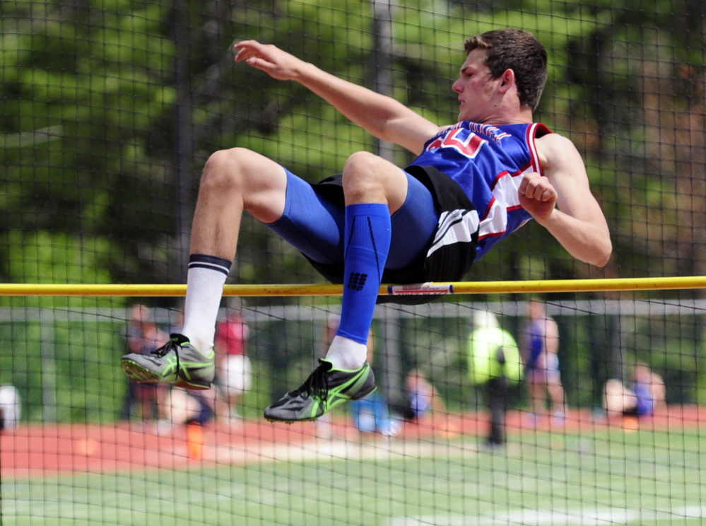 June 6: Oak Hill's Drew Gamage finished second in the high jump with a leap of 6 feet at the Class C state meet Saturday in Yarmouth. Gamage also set a Class C record in the triple jump.