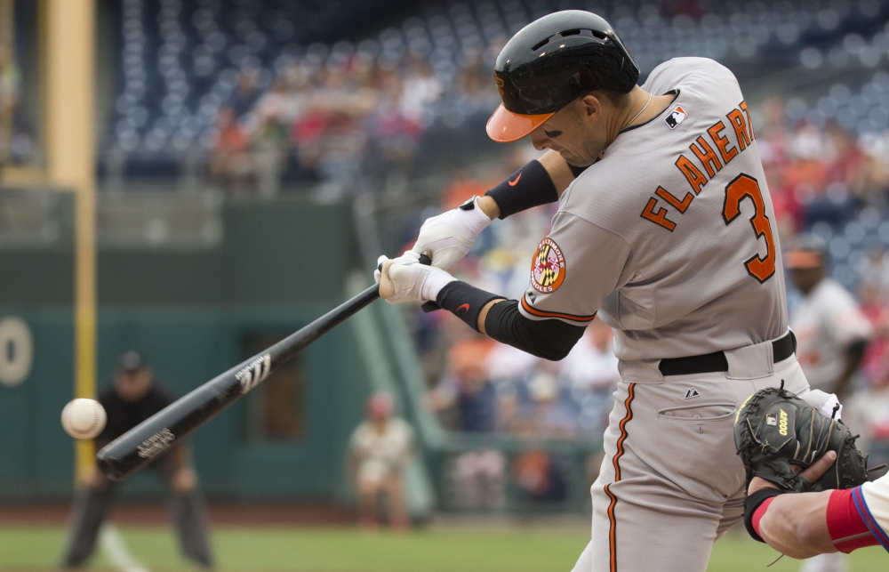 Ryan Flaherty, a Deering High graduate, is showing improvement at the plate this season, batting .250 – 26 points higher than his career average.