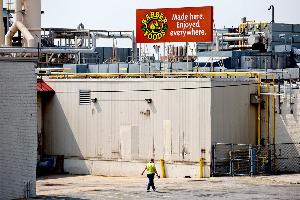 Barber Foods recalled more than 1 million pounds of frozen chicken that was produced at its plant on St. John Street in Portland between Feb. 17 and May 20. The product was distributed throughout the United States and Canada. Gabe Souza/Staff Photographer