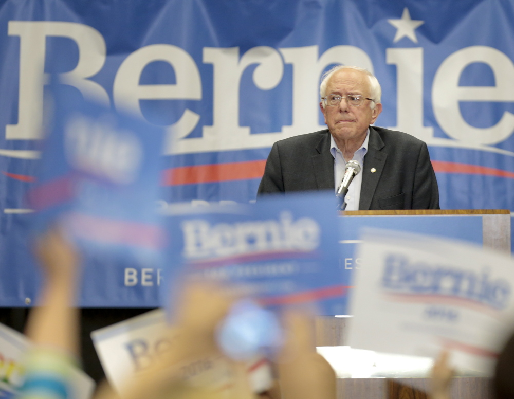 "Democratic presidential candidate Sen. Bernie Sanders is a self-described ""strong progressive"" who champions workers."