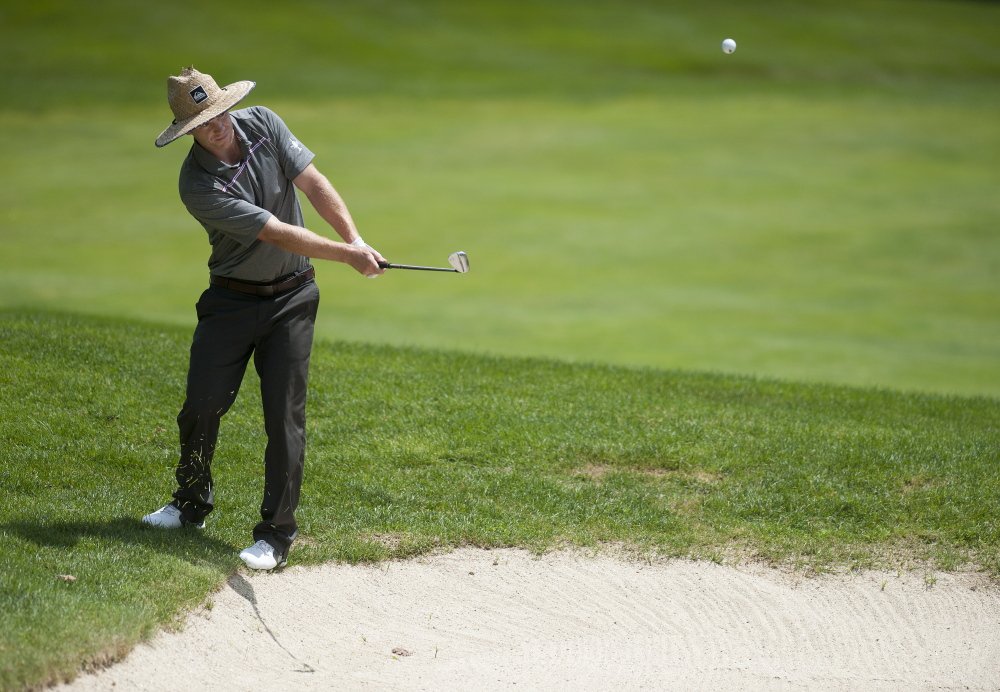 John Hayes IV, seen last year on his way to winning the Maine Amateur Championship, can expect a challenge this year from 19-year-old Matt Hutchins of Falmouth.