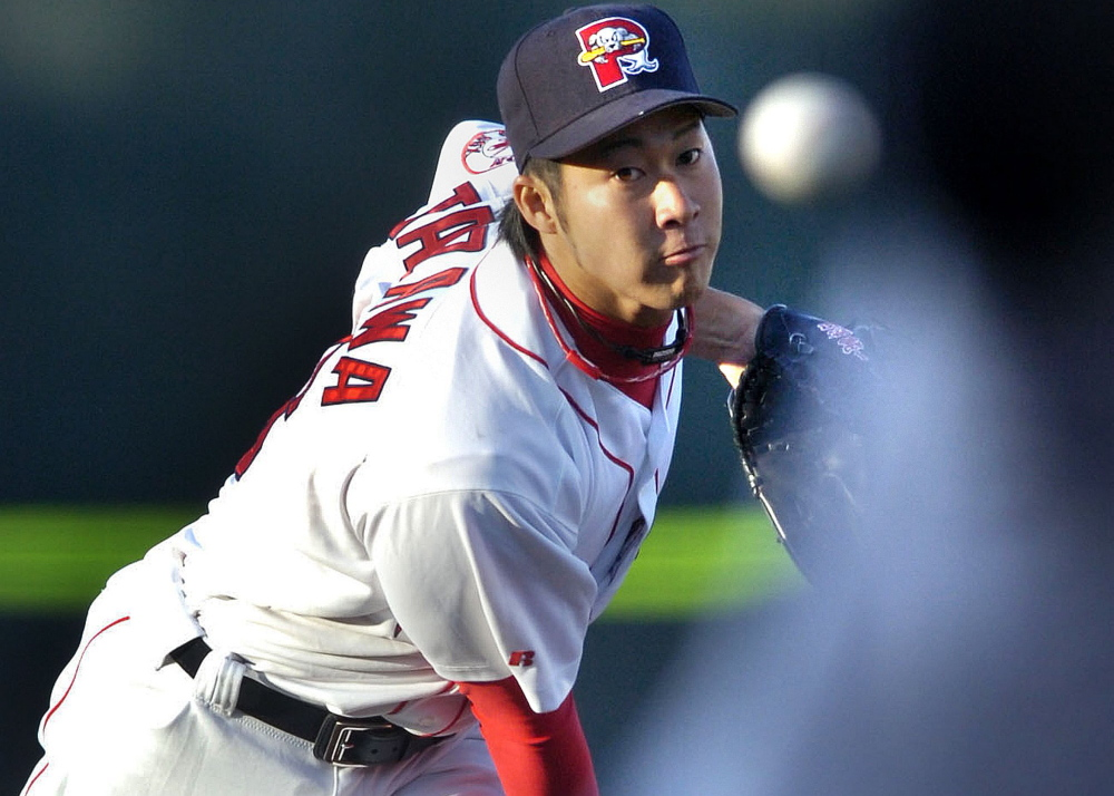 Reliever Junichi Tazawa  is called upon often because the Red Sox have few dependable options.
