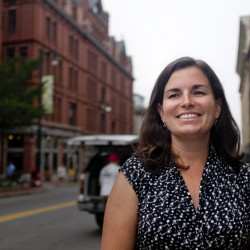 Casey Gilbert, executive director of Portland's Downtown District, wants the city to be a world-class destination.
