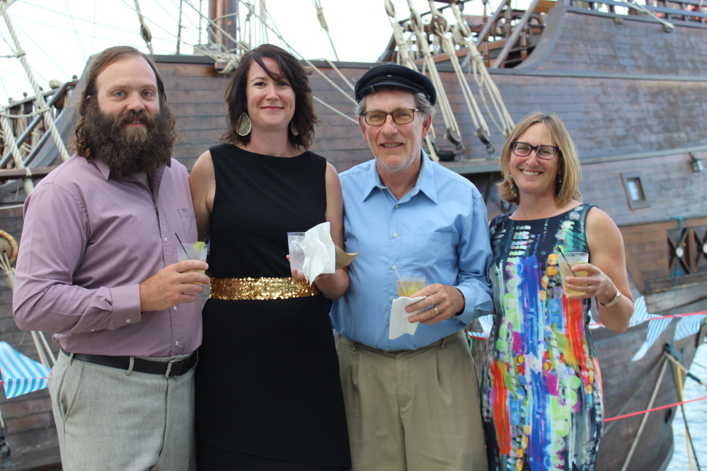 SailMaine supporters Chris Beth, Lori Eschholz, and Mike and Judy Bruenjes. Chris and Mike share a boat.