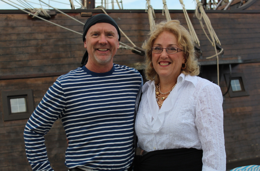 Sailors Steve and Mary Ballou of Cape Elizabeth dressed the part.
