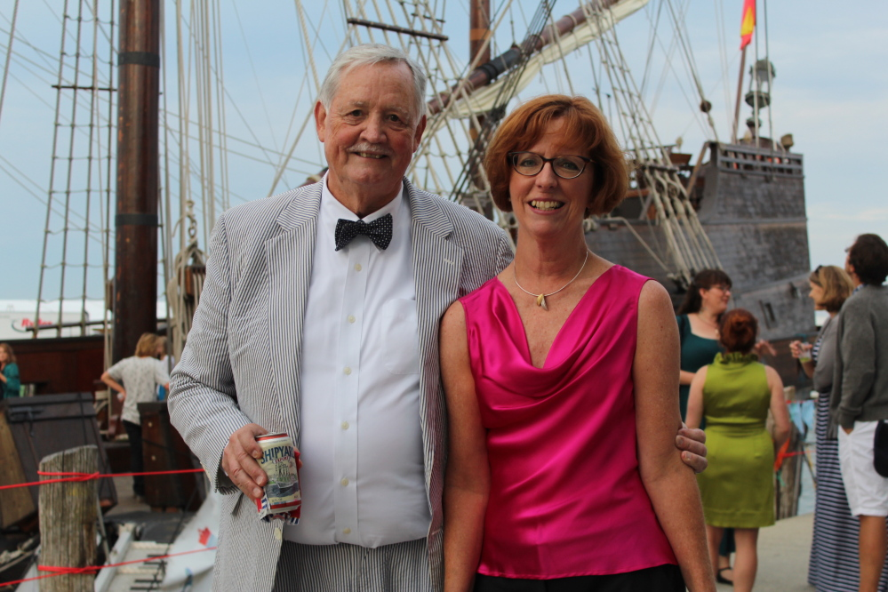 George Cushing and Liz Hunt, sailing enthusiasts and newlyweds.