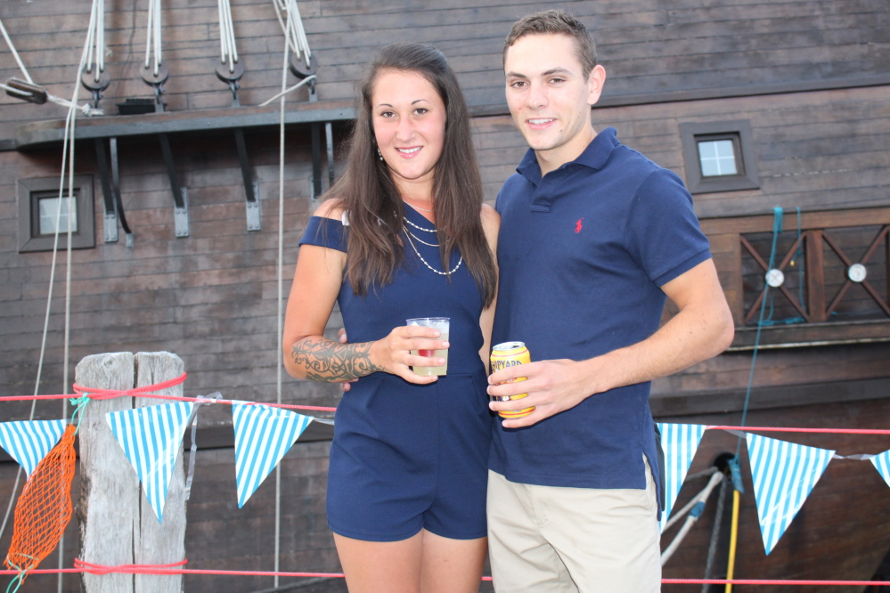Caitlyn Young of Portland Yacht Club and Sam McDonald of Portland.