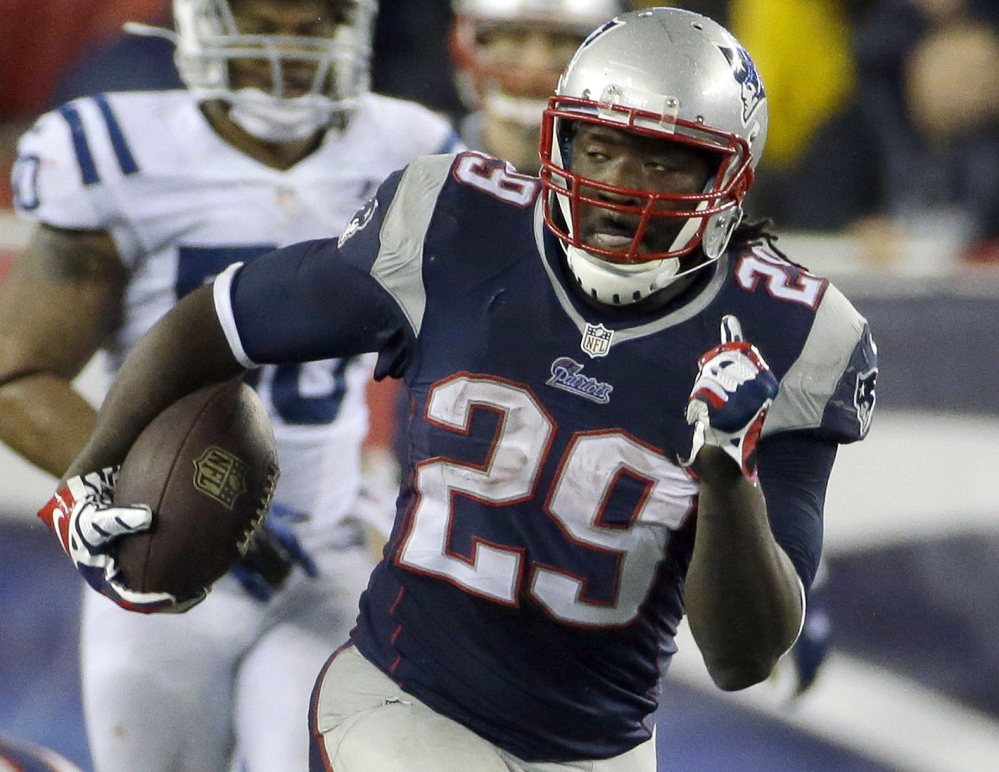 AT RUNNING BACK: Stevan Ridley and Shane Vereen are gone. LeGarrette Blount is back.