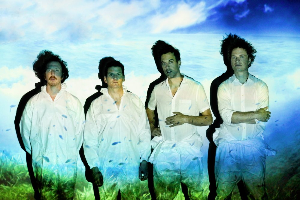 Guster will headline a music festival on Aug. 8 that is being moved from the Eastern Promenade to the Maine State Pier. Guster's guitarist Adam Gardner, second from left, lives in Cape Elizabeth.
