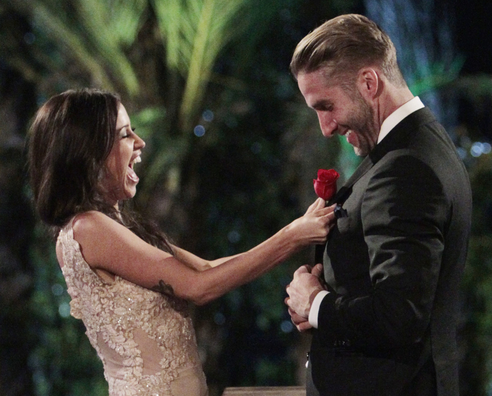 "Kaitlyn Bristowe, left, chooses Shawn Booth on ""The Bachelorette,"" though Bristowe gave away the season finale on Snapchat weeks ago."