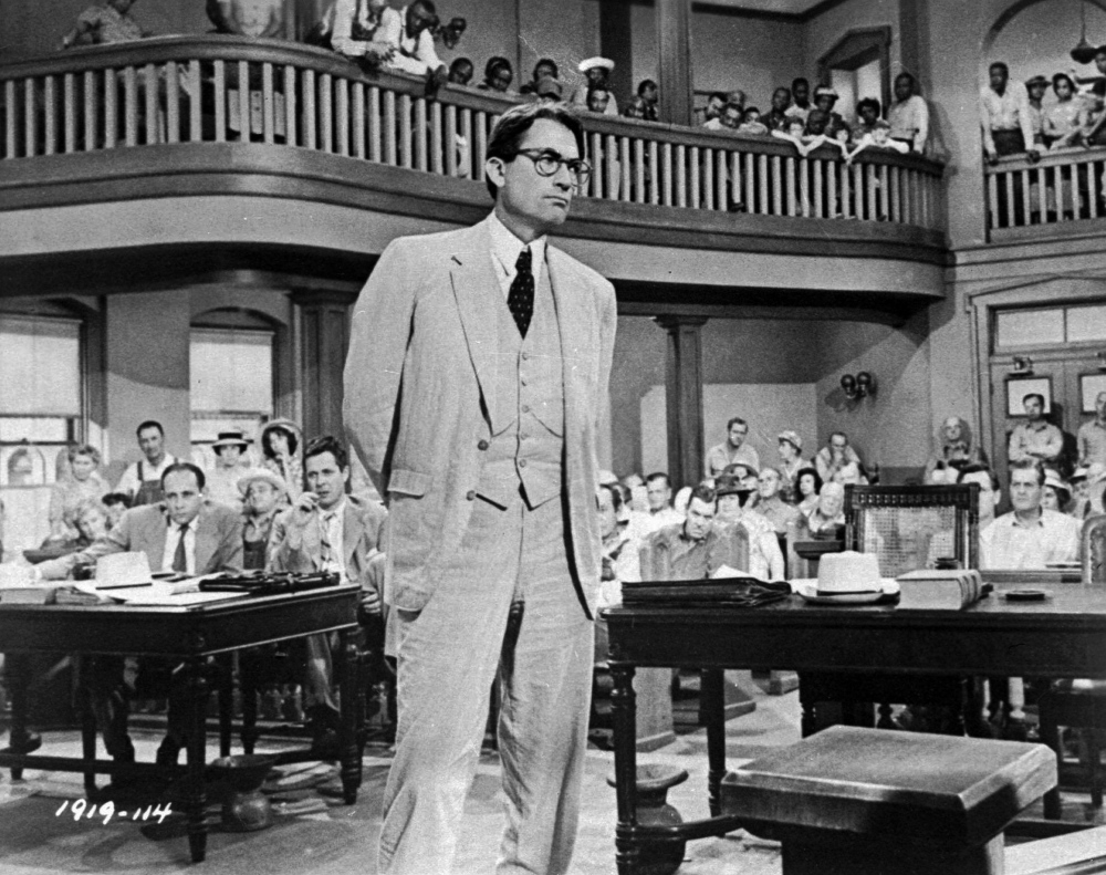 """Gregory Peck depicts Atticus Finch, a small-town Southern lawyer who defends a black man accused of rape, in the 1962 movie """"To Kill a Mockingbird,"""" based Lee's novel.. In """"Go Set a Watchman,""""  Atticus is still a man of principle, """"exacting lasting change in a way that works in his time and setting,"""" one reader said."""