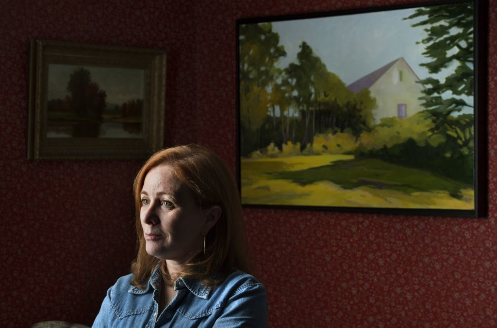 Anne Ireland is an artist in West Bath who lost her son, David McCarthy, to a heroin overdose. Washington Post photo by Nikki Kahn