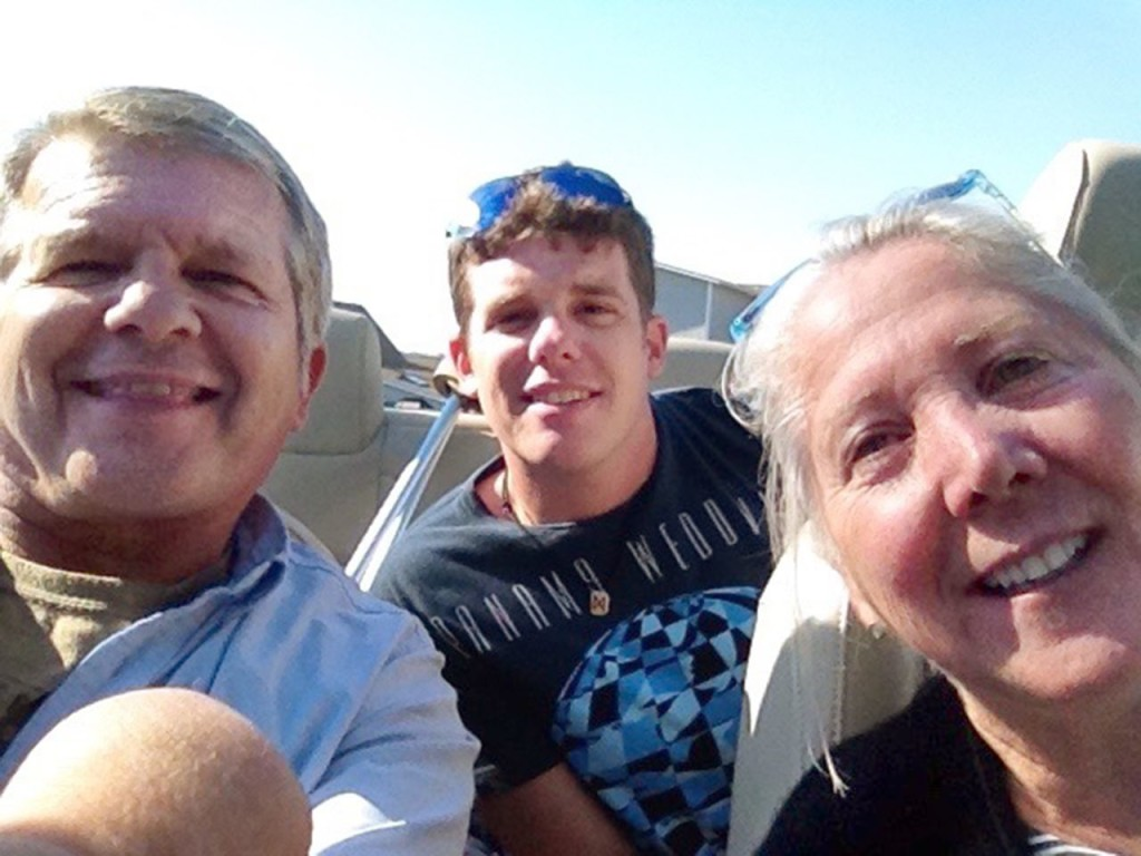 A September 2014 shows David Paul McCarthy, 29, out for a drive through Bar Harbor with his father Kevin McCarthy and stepmother Nancy McCarthy.  A month later, Oct. 17, David died of a heroin overdose. Washington Post photo by Linda Davidson