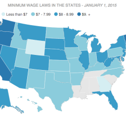 Related Headlines Interactive Map Minimum Wage Across The Us