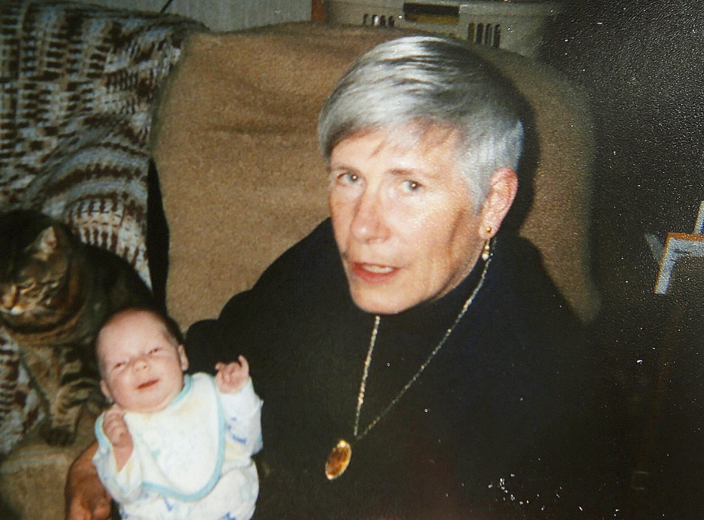 Rita Douglas holds her granddaughter Harley in this family photo taken 17 years ago. Douglas was struck and killed by Isabella Slocum, 16, while walking her dog on Harpswell Islands Road in Harpswell on Wednesday morning. Photo courtesy of Douglas family