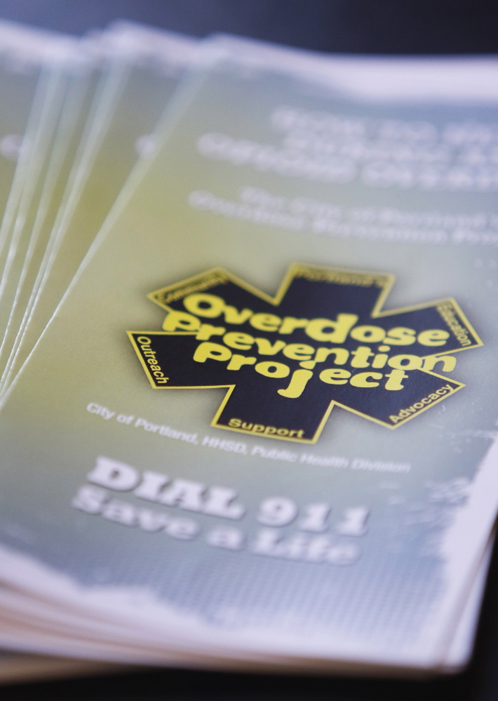 Portland officials are distributing educational materials in an effort to prevent drug overdoses.