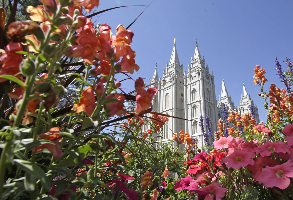 The Salt Lake Temple in Salt Lake City. The Associated Press