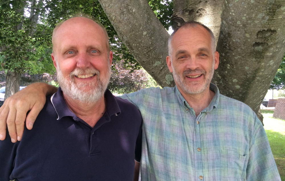 Paul Schumacher, left, is the director of the Southern Maine Planning and Economic Development Commission, and Lee Burnett is the project director of Forest Works!, a group focused on conserving forestland in York County.