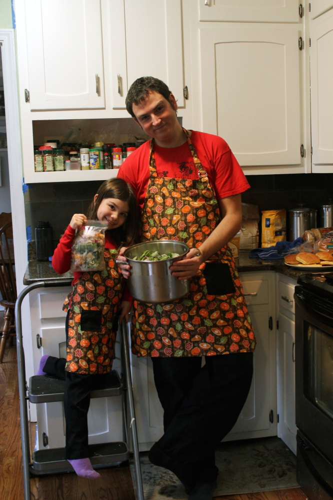 "Squashed chef Vic Robinson and daughter Kayleigh Voyles produce a YouTube show called ""Cooking With Kaleigh."" Courtesy photo"