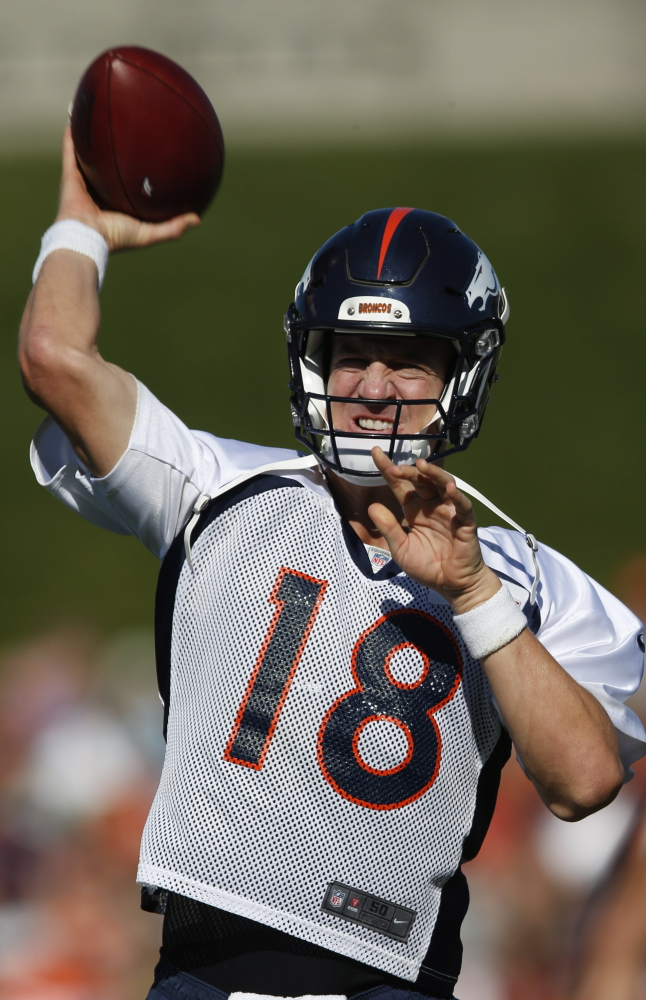 Broncos quarterback Peyton Manning has had his reps limited in practice and is unlikely to play in Denver's preseason opener at Seattle.
