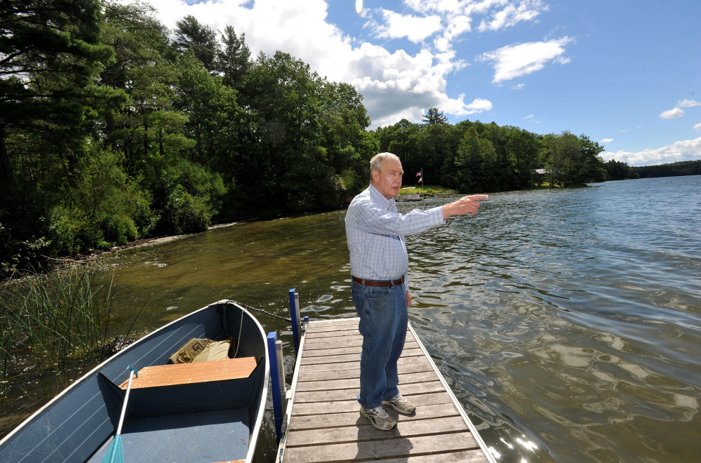"Frank Richards, president of the Webber Pond Association, said the pond's water used to ""look like a green milkshake."""