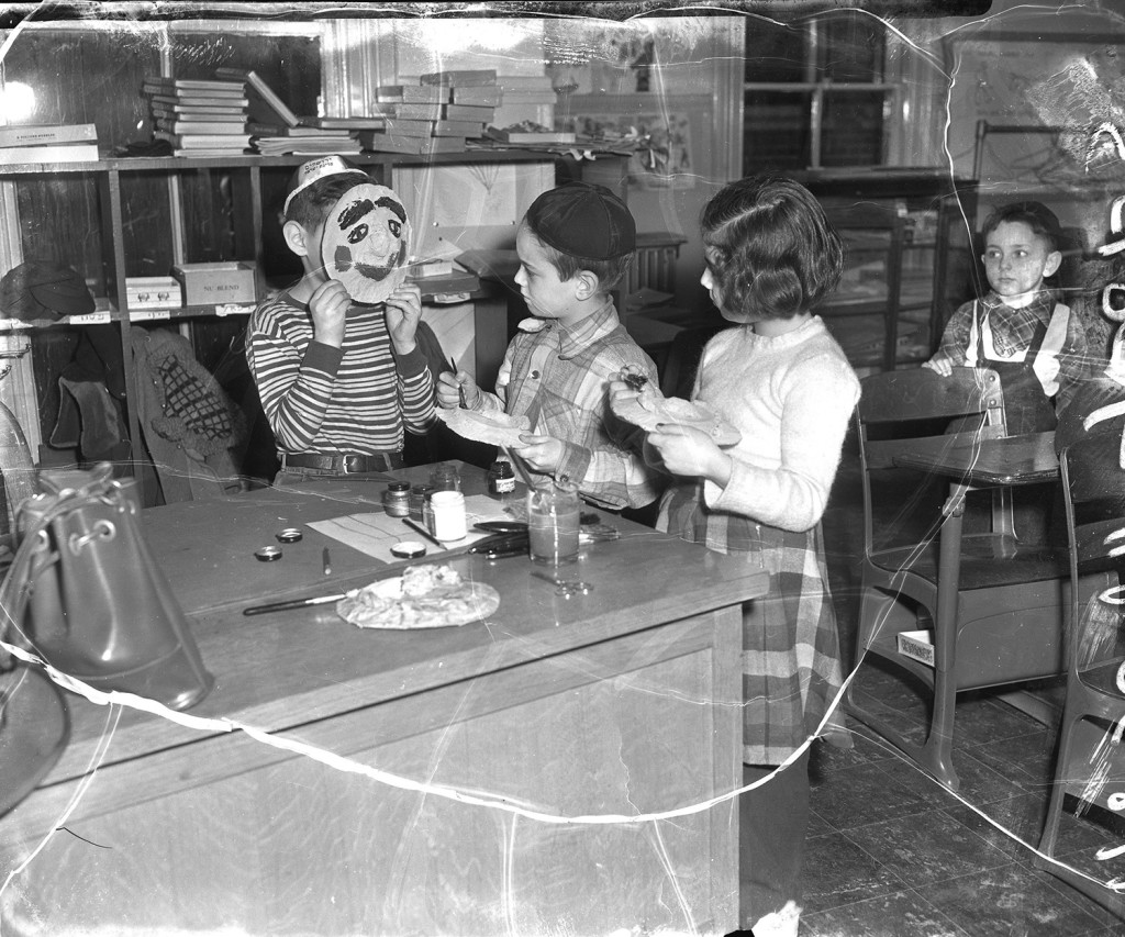 Hebrew School art class, 1953. From the Portland Public Library archival collection of Portland Press Herald, Maine Sunday Telegram and Evening Express photos.