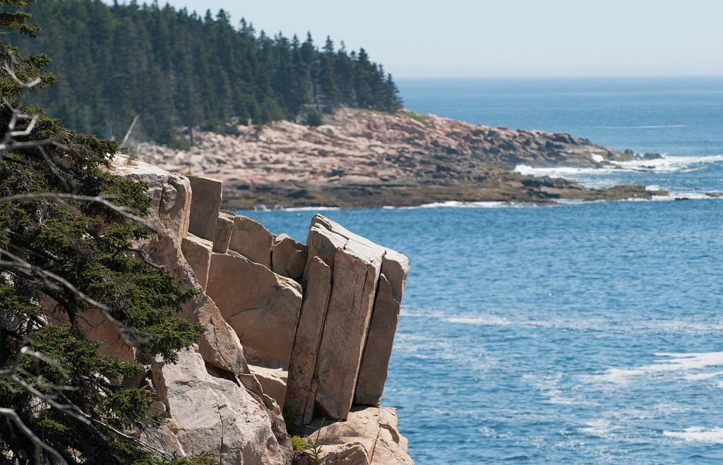 Trail hikers get a unspoiled view of the rugged coastline.