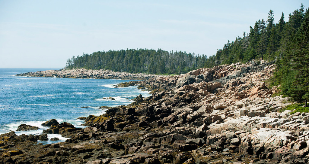 The view from Deep Cove looking towards Southwest Point has more than a mile of untouched rugged coastline.