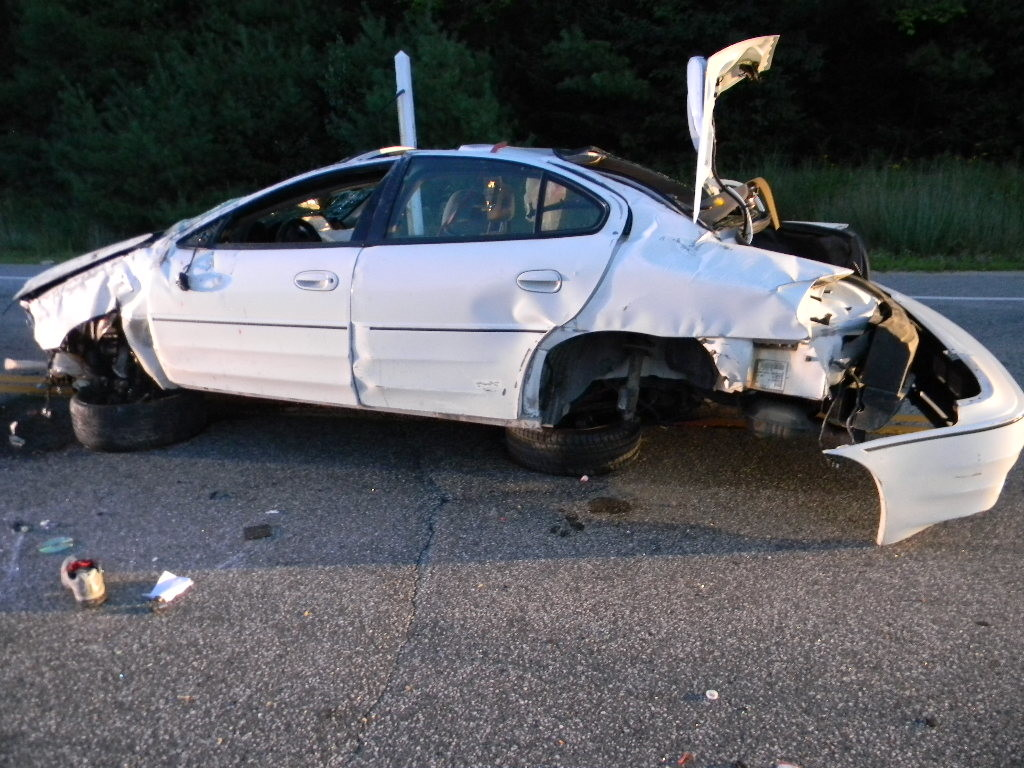 Witnesses to Monday's crash in Harrison said the car driven by Kenneth Bryant hit a guardrail and flipped 10 to 12 times. Courtesy Cumberland County Sheriff's Office
