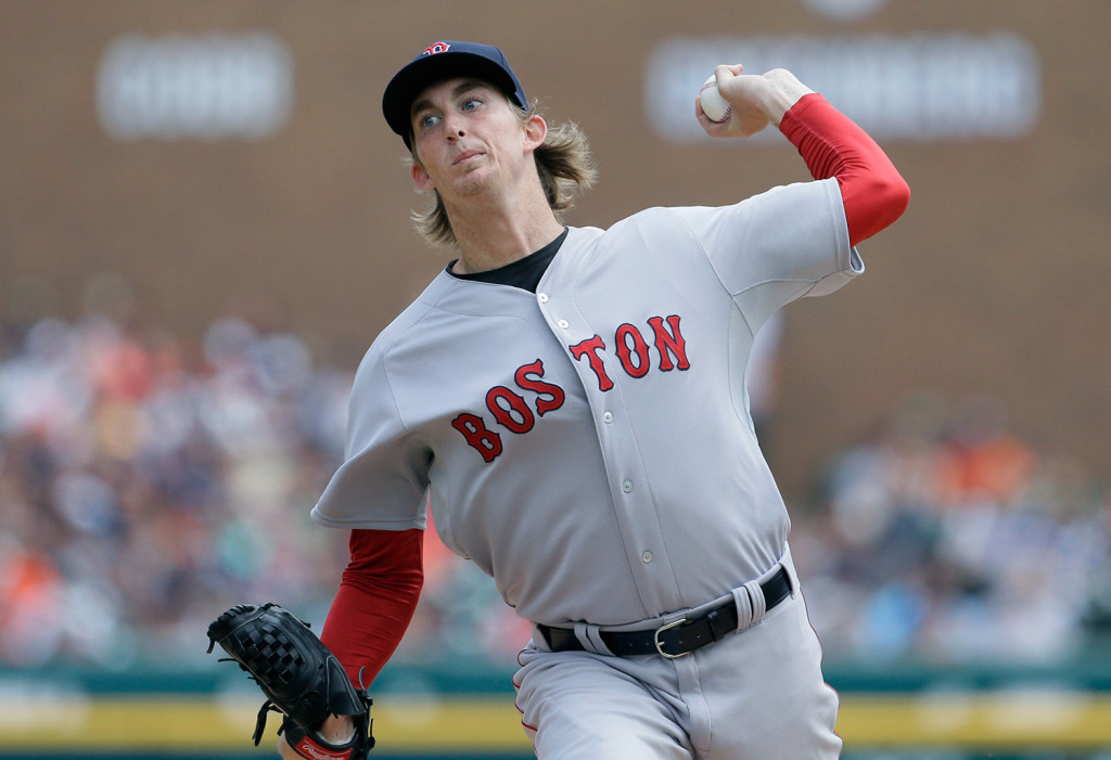 Boston Red Sox starting pitcher Henry Owens throws during the second inning of a baseball game against the Detroit Tigers, Sunday. The Associated Press