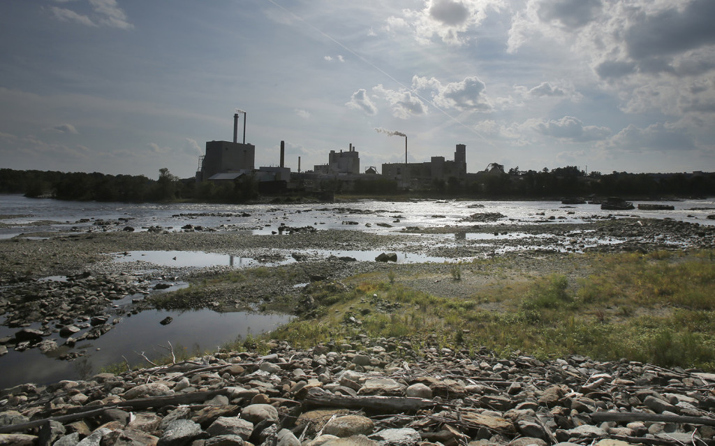 The Penobscot River at the site where the Great Works Dam used to stand. Gregory Rec/Staff Photographer