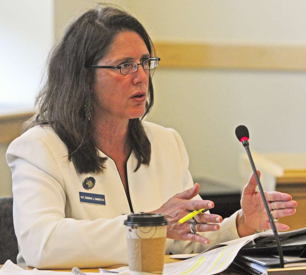 Rep. Deb Sanderson, R-Chelsea, asks a question Tuesday during the Government Oversight Committee meeting. The committee plans to invite individuals referenced in the OPEGA report to a public hearing.