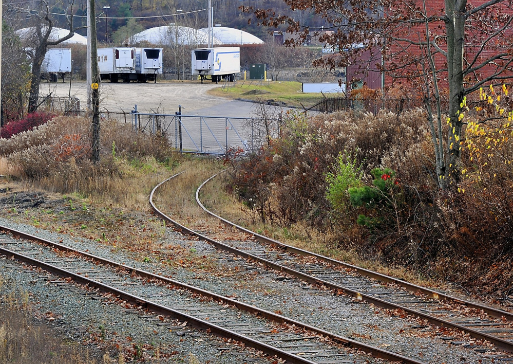 A stretch of the former St. Lawrence & Atlantic Railroad that leads to the B&M plant in Portland. It could become part of a trail system alongside the tracks.