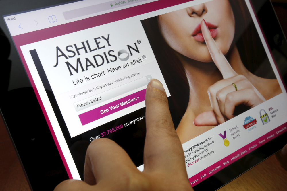 The homepage of the Ashley Madison website is displayed on an iPad. A reader says the company's business plan is to encourage betrayal and enable deceit.