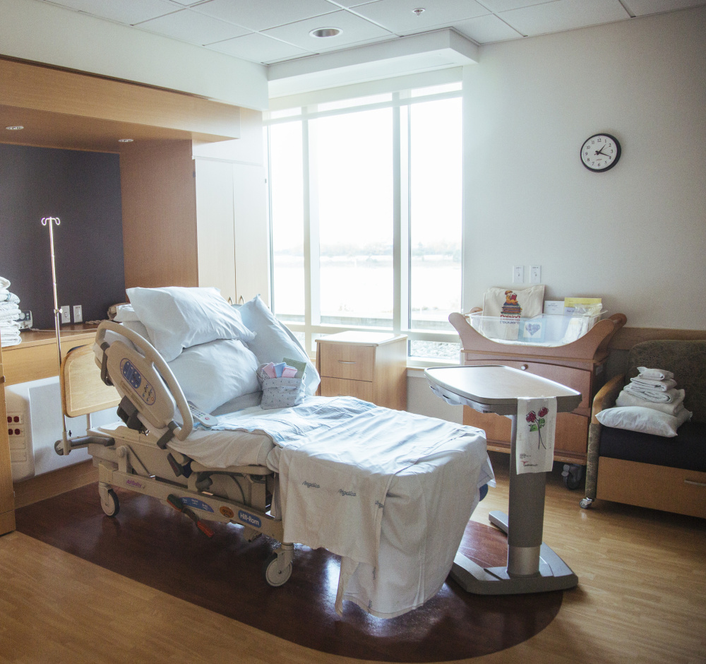 The Birthplace at Mercy Hospital birthing room in Portland