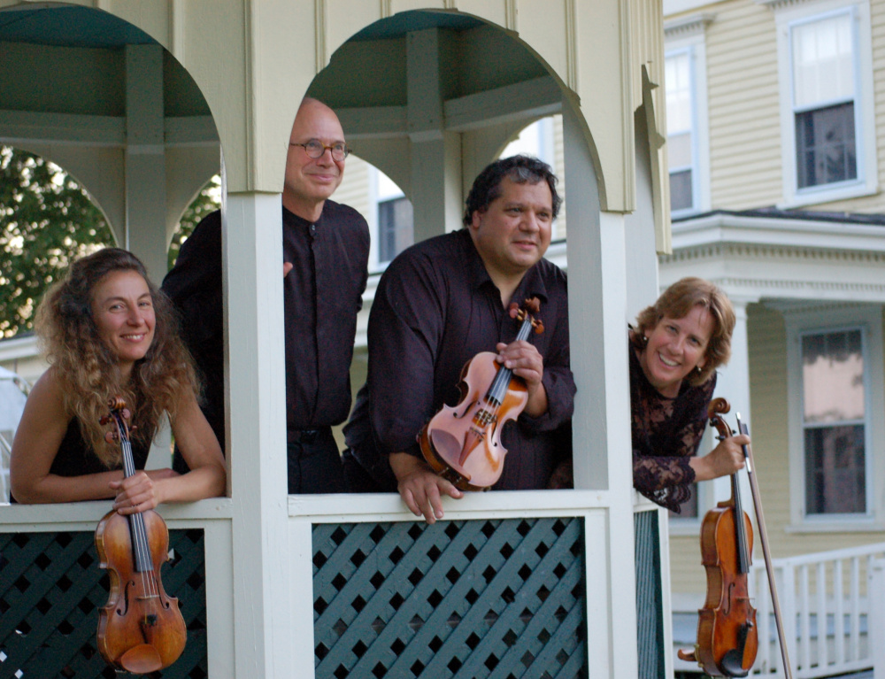 """The DaPonte String Quartet will play """"Dino's Hit List"""" at the Unitarian Universalist Church in Brunswick on Sunday at 3 p.m."""