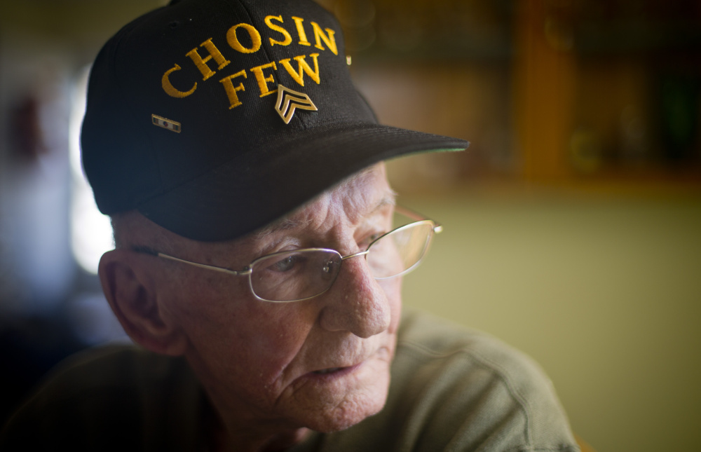 Jim Hughes, 87, fought in the battle of the Chosin Reservoir, one of the most brutal and pivotal battles of the Korean War, 65 years ago this month. Hughes has made it his life's work not to close the door on those memories but to share the story.