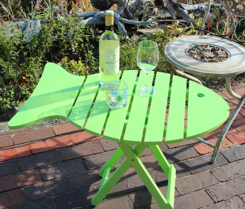 Homegrown Maine Made Folding Fish Table Can Be Used