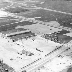 This is a 1969 photograph of the construction of the Jordan Marsh store in South Portland. It was the first store to be constructed in the Maine Mall Shopping Center. Some of the services the store offered when it opened included stationery engraving, bronzing baby shoes and luggage repair. The building now houses the Macy's department store.