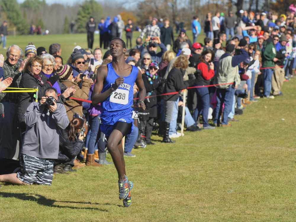 Osman Doorow had no one in Maine who could keep up with him this fall. The Lewiston senior did not lose a race in Maine and posted the best time in any class – 16 minutes, 17 seconds – at the state meet.