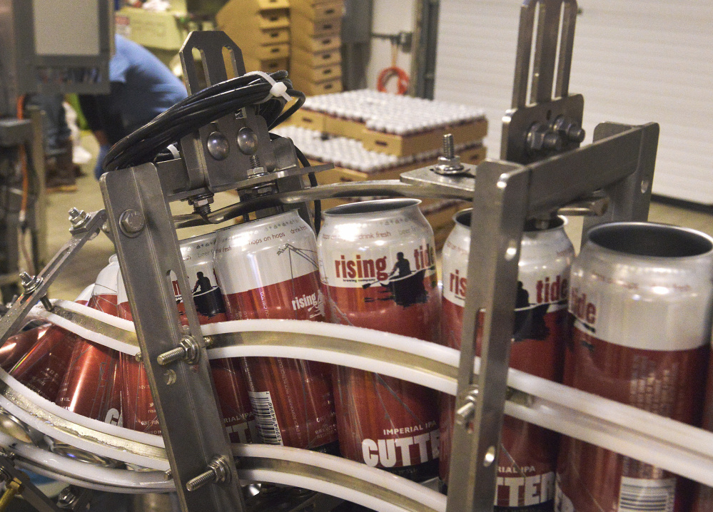 Portland's Rising Tide is among the craft beer makers that use 16-ounce cans, differentiating the product from mass-produced 12-ounce beer.