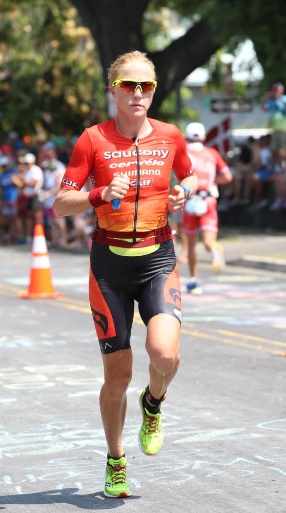 Sarah Piampiano at the Ironman World Championships in October at Kona, Hawaii.