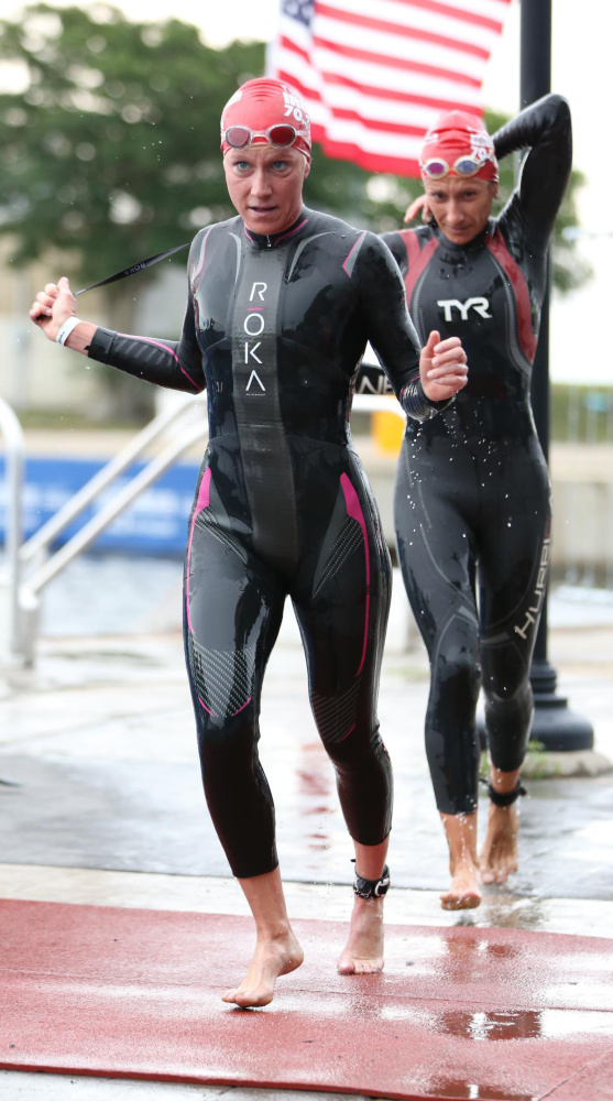 Sarah Piampiano at the Ironman 70.3 in April at New Orleans.